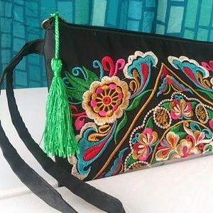 Embroidered Ethnic Clutch. Brand NEW!